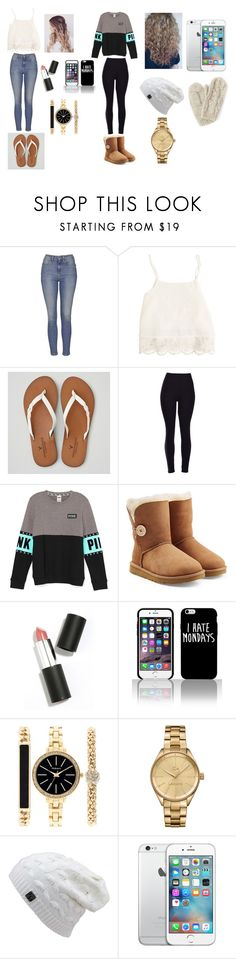 """Is it hot outside?......no no it's coooold⛄️☁️❄️"" by ashley22315 ❤ liked on Polyvore featuring Topshop, Swell, American Eagle Outfitters, UGG Australia, Sigma Beauty, Style & Co. and Lacoste"