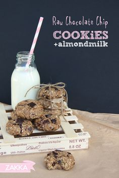 Raw & Healthy Chocolate Chip Cookies – RECIPE   ZAKKA – sweet design of Scandinavia • raw food, vegan, paleo, dairy free, processed sugar free, cookies, chocolate, chocolate chip cookies, healthy, healthy kids treats, clean eating
