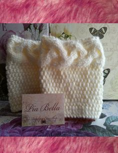 Knitted Boot Cuffs Ivory Color Boot toppers by GraphicsAndMore, $16.99
