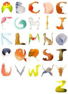Joli alphabet animalier par Éva Bourdier - découverte Arts en Balade 2015