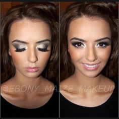 .@ebony_maize_makeup | Makeup for the beautiful @ariestumpo 21st birthday party!