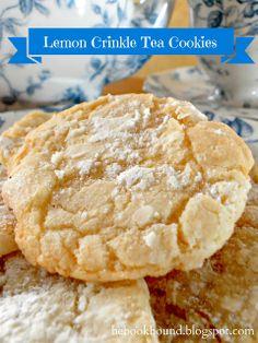 Be Book Bound: Pride and Prejudice: Lemon Crinkle Tea Cookies