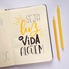Seja luz!! #handlettering #lettering #handletteringbrasil #caxiasdosul #luz #light #quotes #inspirationalquote #frasesmotivadoras #life #vida #belight #handwriting #handmade L Quotes, Meant To Be Quotes, Bullet Journal School, Motivational Phrases, Lettering Tutorial, Creative Journal, Instagram Blog, Tumblr Wallpaper, Typography Quotes