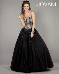 Jovani 1332 Lace Up Ball Gown
