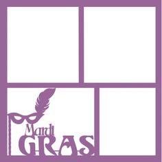 Mardi Gras - Laser Die Cut Scrapbook Overlay