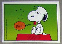 Sick Snoopy :(          Too much Root Beer last night.