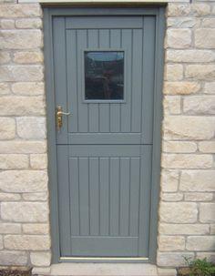 UPVC stable door in grey.