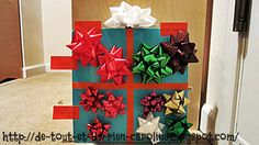 Create a magnetic Xmas present board and sort Xmas bows on it. Fun!