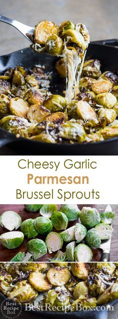 Cheesy Brussel Sprouts with Garlic and Parmesan   @bestrecipebox
