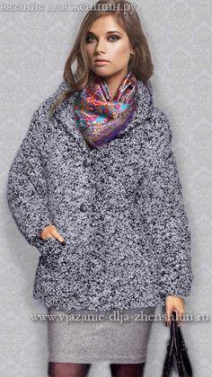 Модное вязаное пальто осень-зима 2015-2016
