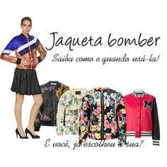 """Jaqueta bomber"" by truquesdemeninas on Polyvore"