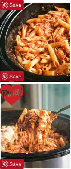 DIY Slow Cooker Chicken Parmesan and Pasta - Ingredients  Meat  1  lb Chicken breasts boneless skinless  Produce   tsp Oregano  2 (24-oz.) jars Ragu chunky tomato  Pasta & Grains  1 lb Penne pasta  Baking & Spices   tsp Pepper   tsp Salt  Dairy  3 cups Mozzarella cheese   cup Parmesan cheese #delicious #diy #Easy #food #love #recipe #recipes #tutorial #yummy @mabarto - Make sure to follow cause we post alot of food recipes and DIY we post Food and drinks gifts animals and pets and sometimes…