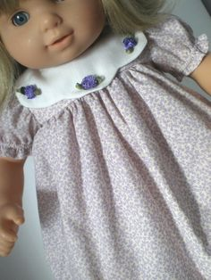 Bitty Baby Doll Clothes Purple Floral Dress by fashioned4you