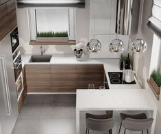 Kitchen Layout Design with Marble backsplash, soap stone countertops and white cabinets Kitchen Room Design, Kitchen Cabinet Design, Modern Kitchen Design, Kitchen Layout, Home Decor Kitchen, Interior Design Kitchen, Home Kitchens, Kitchen Ideas, Kitchen Designs