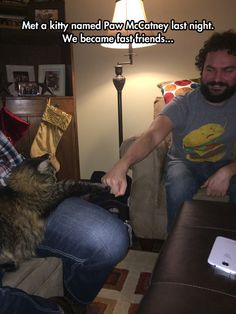 Bro Fist With The New Cat