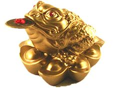 Feng Shui Money Frog on Yuan Bao for Wealth Luck With Betterdecor Logo Charm and Bag -- Be sure to check out this awesome product.