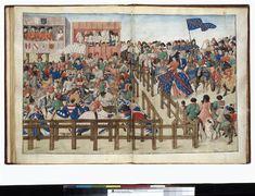 Le Livre des tournois. - Bruges. Auteur : René I (duc d'Anjou ; 1409-1480). Date : 1488 (?)