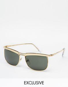 Sonnenbrille von Reclaimed Vintage Metallgestell verstellbare Nasenpolster aus Silikon für zusätzlichen Komfort dunkel getönte Gläser schmale Bügel mit abgerundeten Enden für einen sicheren Sitz voller UV-Schutz exklusiv bei ASOS