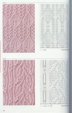 beautiful  knitting  patterns with chart