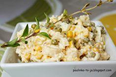 Smak mojej kuchni...: Sałatka chrzanowa z ananasem
