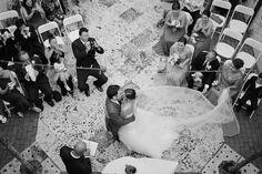 gorgeous overhead ceremony shot at the Coral Gables Museum by merari.com