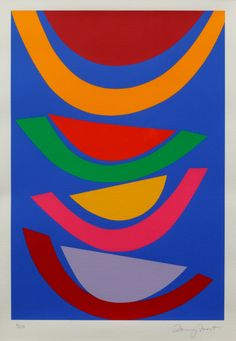 Frost, Sir Terry RA Swing on blue, signed, silkscreen of an edition of x cms. Bequeathed by Margaret Whitford through the Art Fund. Easy Crafts For Kids, Diy Arts And Crafts, Crafts To Do When Your Bored, Art Fund, Bright Art, Amazing Paintings, Op Art, Textile Art, Frost