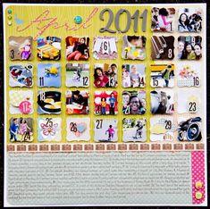 Monthly calendar using photos!