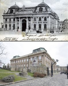 Budapest anno and now. Statue of Gróf Andrássy Gyula, at the Kossuth square. Vintage Architecture, Historic Architecture, Classic Architecture, Dark Mountains, Living In Boston, Buda Castle, Architectural Styles, Small Buildings, Budapest Hungary