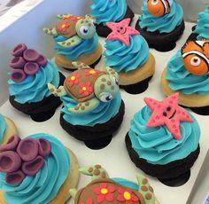 Ideas Baby Shower Ideas For Girs Disney Finding Nemo For 2019 babyshower baby 296815431692332676 Ocean Cakes, Baby Boy Birthday, 2nd Birthday, Birthday Ideas, Baby Shower Cakes, Pixar, Impreza, Cupcake Cakes, Birthday Parties