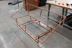 copper pipe daybed frame