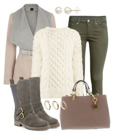 """""""freezing"""" by deliag ❤ liked on Polyvore featuring Oasis, H&M, Joseph, Manolo Blahnik, ASOS and Honora"""