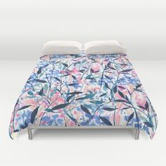 Wandering Wildflowers Blue Duvet Cover by Jacqueline Maldonado | Society6