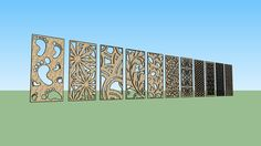 Large preview of 3D Model of Motif Laser Cutting - Part 4 Sketchup
