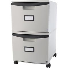 Storex 2-drawer Mobile File Cabinet with Lock / Letter