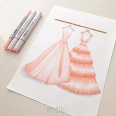 """17 Likes, 2 Comments - Cindy Salim Official (@cindysalimofficial) on Instagram: """"Its just my girly thing!😜💓 #pink #dress #cute #pearl #ribbon #fashionillustrator…"""""""