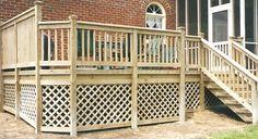 Lattice Decks with Custom Handrails  smartcashhomes.com