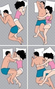 Las 4 formas más populares de dormir en pareja