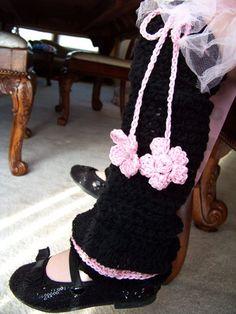Boutique Custom Crochet Ruffle Ballet Leg Warmers