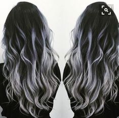 Long hair with silver