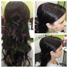 beautifully braided, twisted and curled! great for bridal.  @haley_alluringartistry