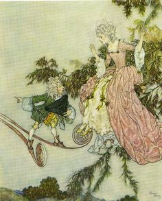Edmund Dulac - *The sleeping Beauty* from Perrault's Fairy Tales