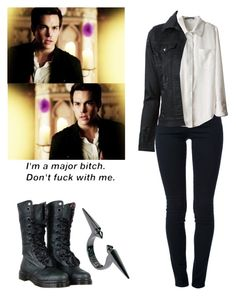 Kai Parker - Tvd / tha vampire diaries by shadyannon on Polyvore featuring polyvore fashion style Philipp Plein STELLA McCARTNEY Dr. Martens Wildfox clothing