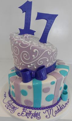 Topsie Turvy 17th Birthday Cake
