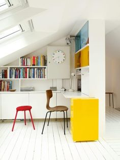 Decorating Ideas: 12 White Rooms with Pops of Color Photo