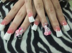 flared out acrylic nails - Google Search