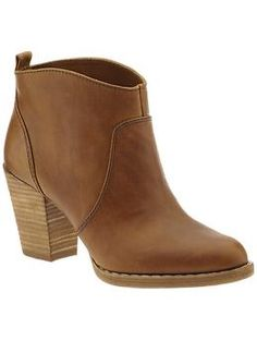 Used to have a similar bootie that my dog ate - want a new pair so bad! Love the color and heel size!