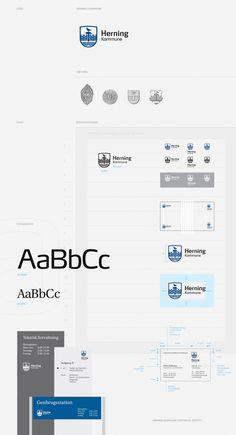 Herning Kommune - Corporate Identity by Ineo Designlab® , via Behance / manual