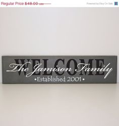 ON SALE  20% OFF  Personalized Welcome Sign  Family by LEVinyl