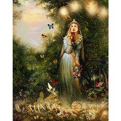 Mythical Realism Paintings | Celtic Art: Celtic Mythology; The Realistic Celtic Art work... - Polyvore