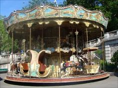 Carrousel by Sacre-Coeur, Montmartre, Paris Always Thinking Of You, Different Countries, Merry Go Round, France 1, Beautiful Horses, Places To Go, Fair Grounds, Montmartre Paris, Carousels